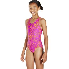 speedo Boom Allover Splashback Swimsuit Jenter diva/jaffa diva/jaffa